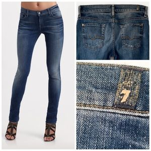 7 FOR ALL MANKIND ROXANNE SKINNY BLUE JEANS SZ 26